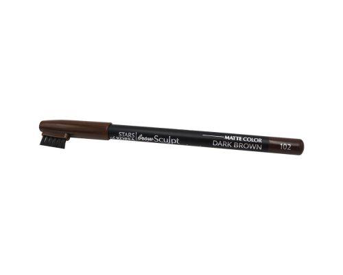 Карандаш для бровей с щеточкой для укладки в оттенке №102 Интенсивно-коричневый от Art Soffio