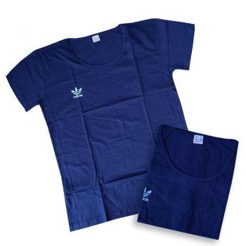 Женская футболка Adidas синяя