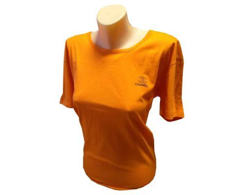 Женская футболка великан оранжевая
