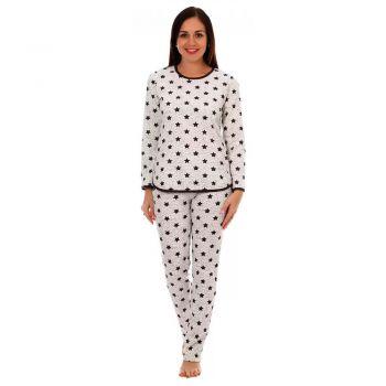 Женская пижама Эхо молочный