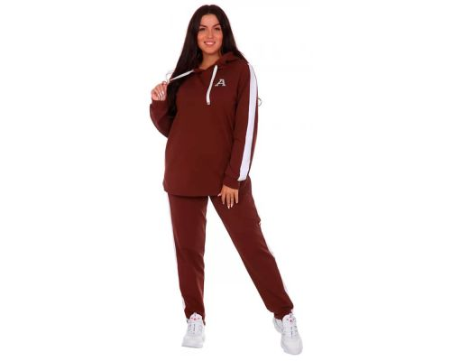 Женский спортивный костюм Шарлотта коричневый
