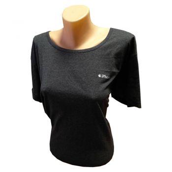 Женская футболка великан темно-серая