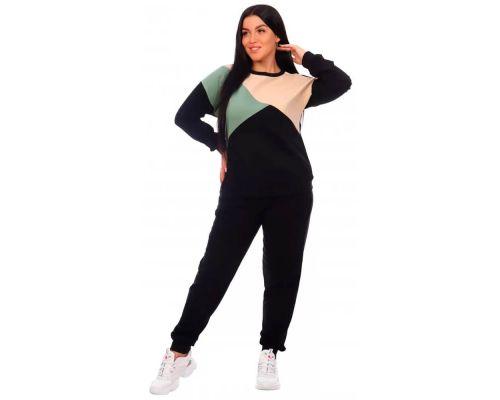 Женский спортивный костюм Дельта черный