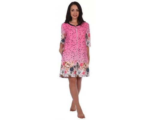 Женский халат Мила розовый