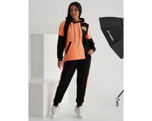 Женский спортивный костюм Неон оранжевый