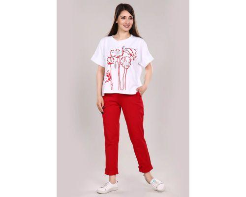 Женский костюм М-671 красный