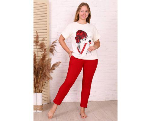 Женский костюм М-698 красный