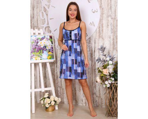Женская сорочка 17015 синяя