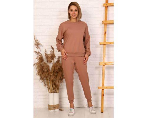Женский костюм 24002 коричневый