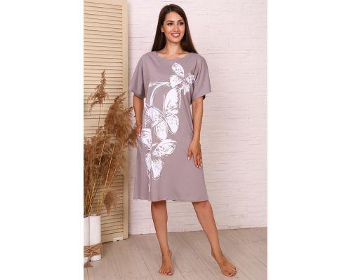 Женское платье М-645 серое