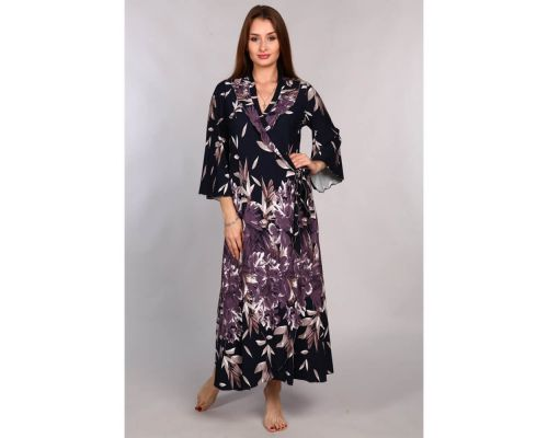 Женский халат М-252-купон темно-синий