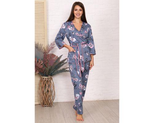 Женская пижама М-725 серый