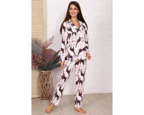 Женская пижама М-724 молочный