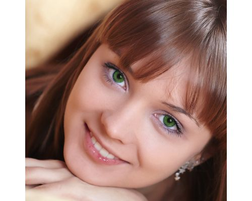 Зеленые контактные линзы с диоптриями от DOX