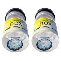 Голубые контактные линзы с диоптриями от DOX