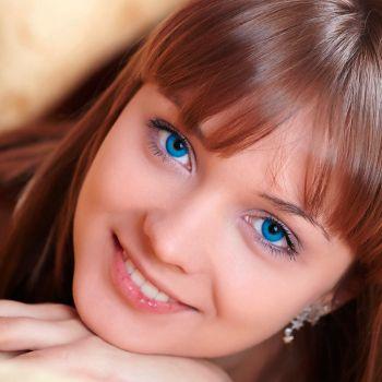 Голубые контактные линзы от DOX