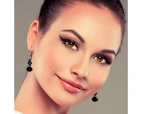 Желтые контактные линзы с диоптриями от DOX