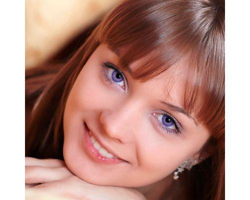 Фиолетовые контактные линзы с диоптриями от DOX