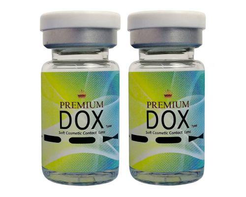 Прозрачные контактные линзы с диоптриями от DOX