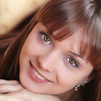Коричневые контактные линзы от DOX
