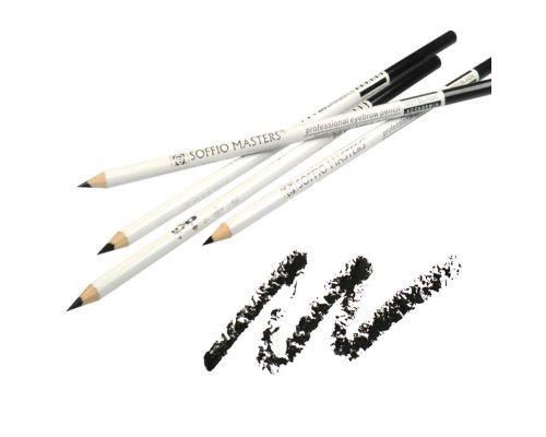 Ультра тонкий карандаш для бровей Черный от Art Soffio