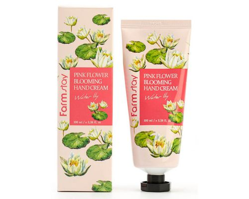 Pink Flower Blooming Hand Cream Water Lily