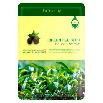 Омолаживающая маска с семенами зеленого чая от FarmStay