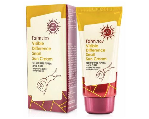Visible Difference Snail Sun Cream SPF50+ PA+++