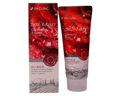 Пенка для умывания с розовой водой от 3W Clinic