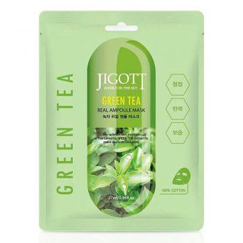 Ампульная маска с экстрактом зеленого чая от JIGOTT