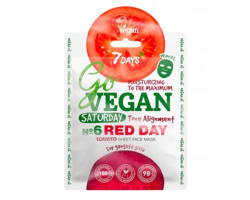Тканевая tomato маска для лица от 7 Days