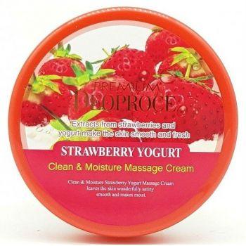 Premium Clean & Moisture Strawberry Yogurt Massage Cream